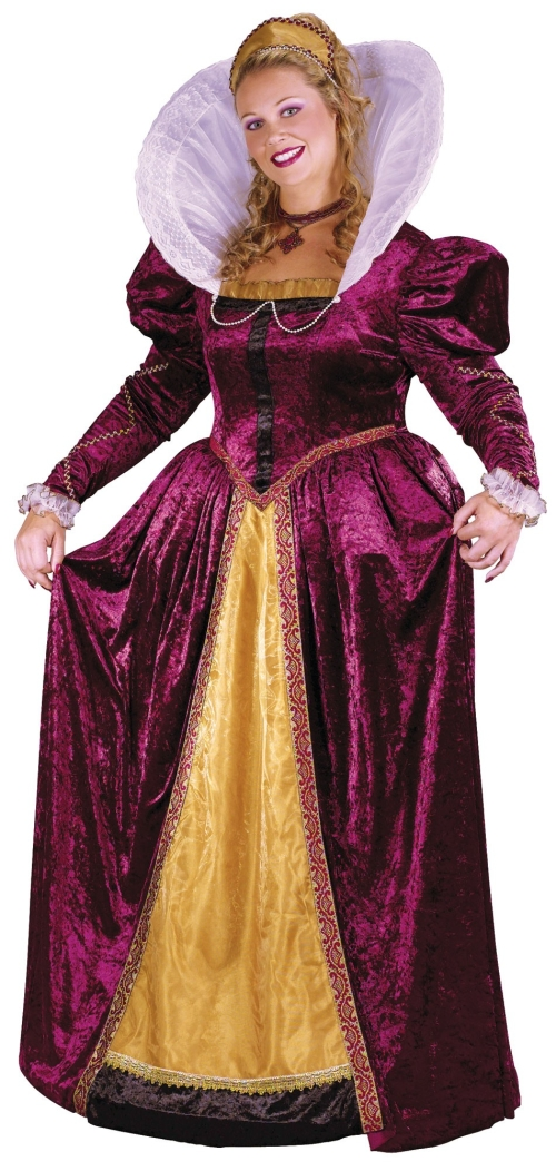 Plus Size Women's Queen Elizabeth Costume