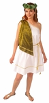 Women's Roman Toga with Drape & Belt
