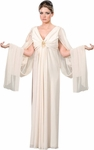 Women's White Roman Toga Robes Theater Costume