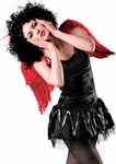 Adult Red Feather Angel Costume Wings