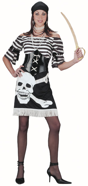 Women's Skull Pirate Costume