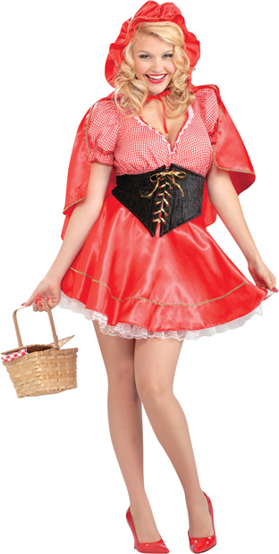 Adult Plus Size Little Red Riding Hood Costume