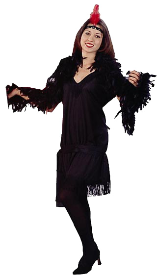 Adult Black Charleston Rag Dress Costume