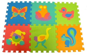 "12"" Animal Puzzle Mat Set"