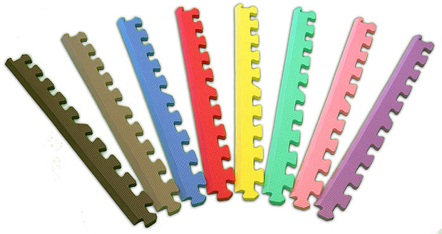 "12"" Puzzle Mat Edges in Assorted Colors"