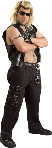 Adult Plus Size Dog the Bounty Hunter Costume