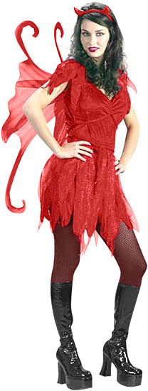 Adult Devil Fairy Girl Costume