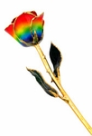 Rainbow Gold Dipped Rose