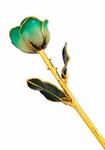 White & Turquoise Gold Dipped Rose