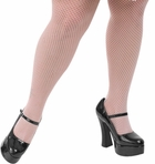 Plus Size White Fishnet Pantyhose