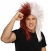 Sports Fan Maroon and White Wig