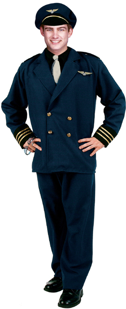 Adult Flight Captain Pilot Costume