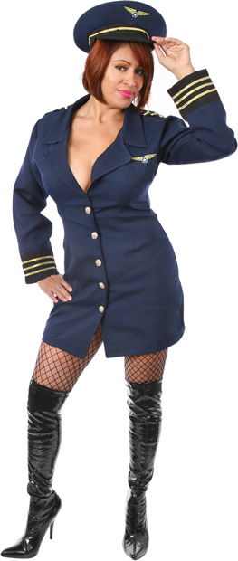 Plus Size Sexy Flight Captain