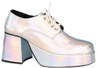 Men's Silver Disco Platform Shoes