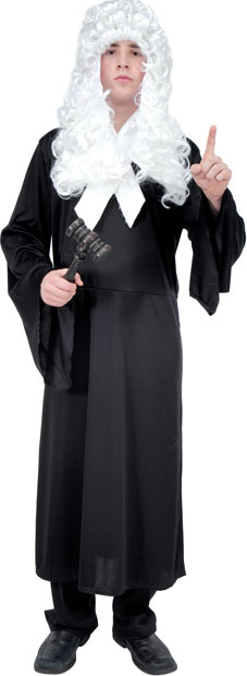 Adult Colonial Judge Costume and Wig