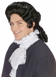 Men's Black Colonial Wig