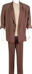 Brown Miami Vice 80s Suit Costume