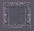 Double Sided Dark Grey Paisley Bandanas