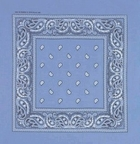 Double Sided Light Blue Paisley Bandanas