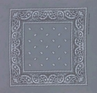 Double Sided Light Grey Paisley Bandanas