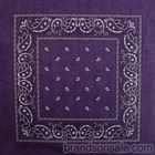 Double Sided Purple Paisley Bandanas