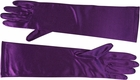 Purple Satin Elbow Length Gloves