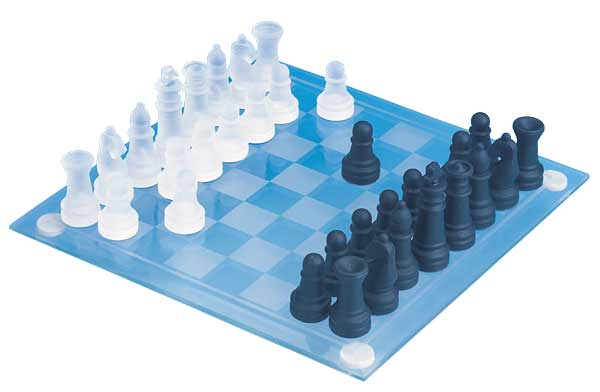 Mini Glass Chess Set