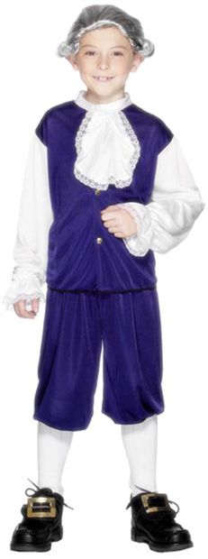 Blue Child's Colonial Boy Costume