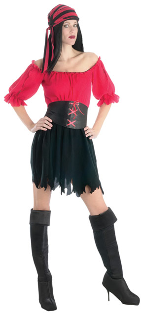 Ladies Tattered Pirate Wench Costume