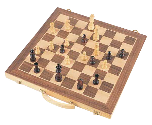 Wooden Chess Set With Handle