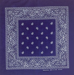 Navy Blue Paisley Bandanas Wholesale