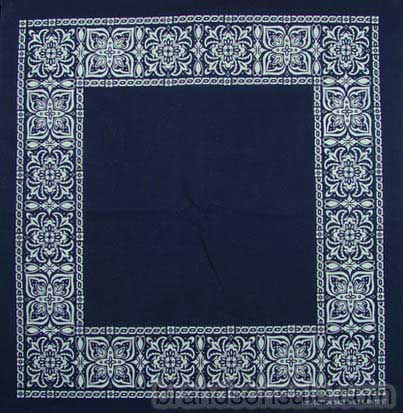 Open Center Blue Paisley Bandanas