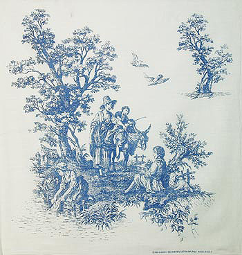 Summer Blue Toile Bandanas