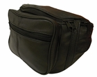 Large Black Leather Fanny Pack