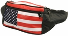 Leather USA Flag Fanny Pack