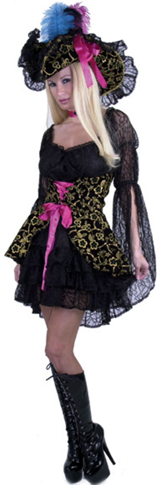 Black Lacey Pirate Lady Costume