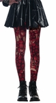 Red Skulls Zombie Tights
