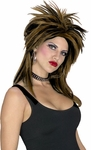 2 Tone Brown & Black Rock Star Wig
