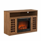 Weathered Oak Mason Media Electric Fireplace
