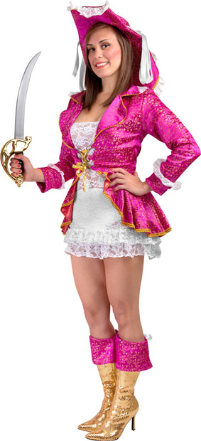 Teen Sexy Pink Pirate Costume