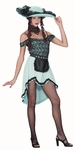 Adult Blue Saloon Girl Costume