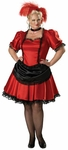 Adult Plus Size Dlx Saloon Girl Costume