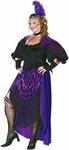 Women's Full Figure Saloon Girl Costume