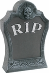 Animated Lighted Pop-Out Skull Tombstone