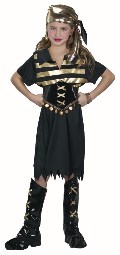 Child's Gold Pirate Girl Costume