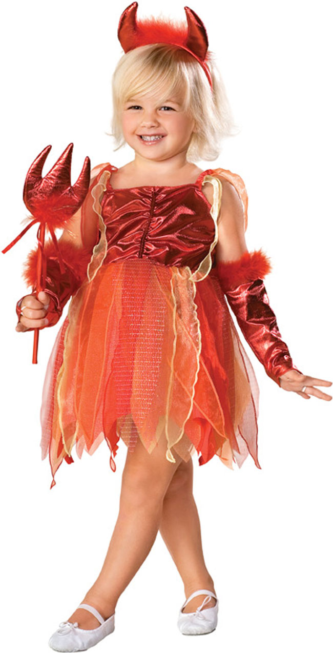 Toddler Girl Fire Devil Costume
