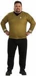 Men's Plus Size Star Trek Deluxe Gold Shirt Costume