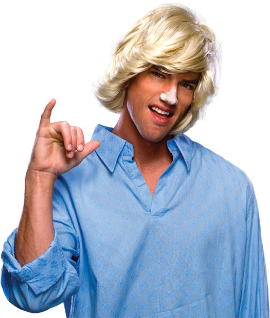 Blonde 80s Surfer Dude Wig