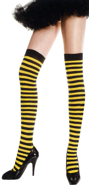 Bumble Bee Thigh High Stockings