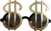Dollar Sign Pimp Costume Sunglasses